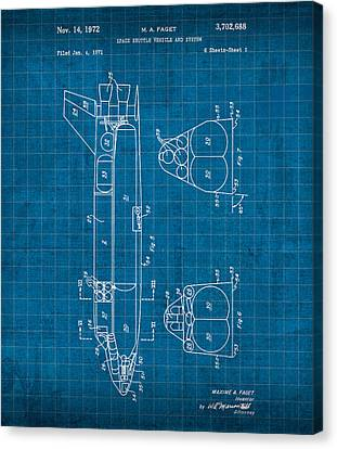 Nasa Space Shuttle Vintage Patent Diagram Blueprint Canvas Print by Design Turnpike
