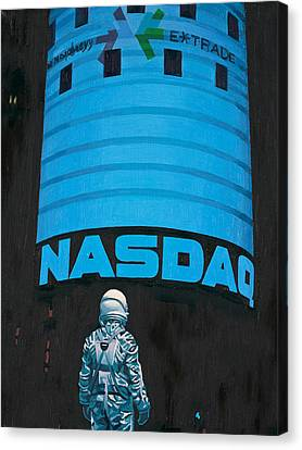 Canvas Print featuring the painting Nasdaq by Scott Listfield