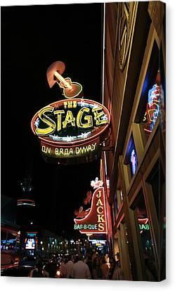 Nashville Bars At Night Canvas Print by Dan Sproul
