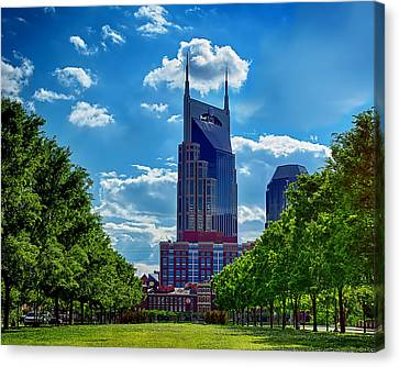 Nashville Batman Building Landscape Canvas Print by Dan Holland