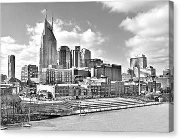 Nashville Black And White Canvas Print by Frozen in Time Fine Art Photography