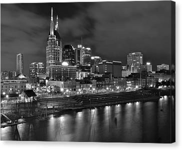 Nashville Black As Night Canvas Print by Frozen in Time Fine Art Photography