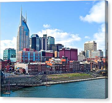 Nashville Blues Canvas Print by Frozen in Time Fine Art Photography