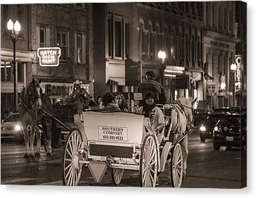 Nashville Carriage Ride Canvas Print by John McGraw
