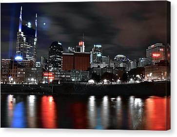 Nashville Dark Knight Canvas Print by Frozen in Time Fine Art Photography