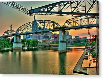 Nashville Dusk Canvas Print by Zachary Cox