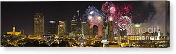 Pyrotechnic Canvas Print - Nashville Fourth Of July 2014 by Dieter Spears