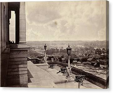 Nashville From The Capitol George N. Barnard Canvas Print by Litz Collection