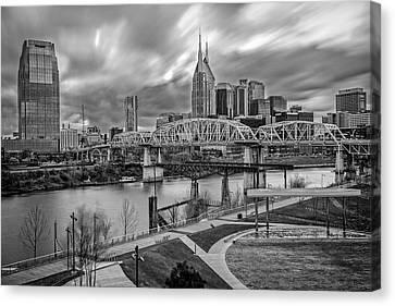 Nashville Frozen In Time Canvas Print by Brett Engle