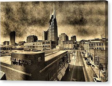 Nashville Grunge Canvas Print by Dan Sproul