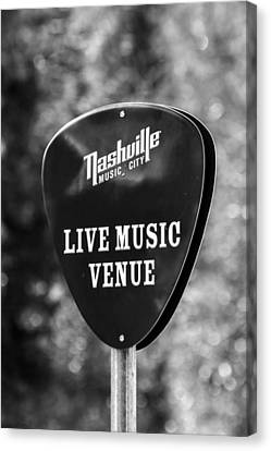 Nashville Music City Sign Canvas Print by Debbie Green