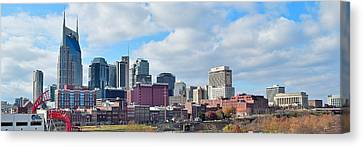 Nashville Panoramic View Canvas Print