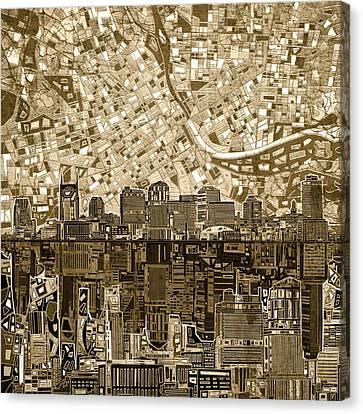 Nashville Skyline Canvas Print - Nashville Skyline Abstract 6 by Bekim Art