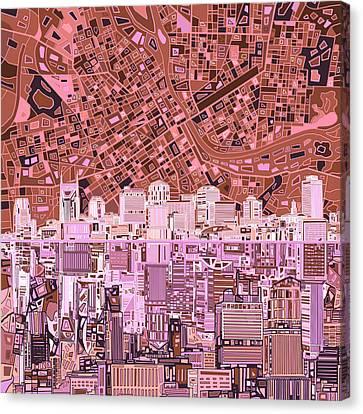 Nashville Skyline Canvas Print - Nashville Skyline Abstract 7 by Bekim Art