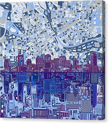 Nashville Skyline Abstract 8 Canvas Print