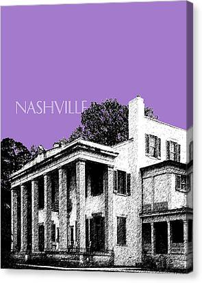 Nashville Skyline Belle Meade Plantation - Violet Canvas Print by DB Artist