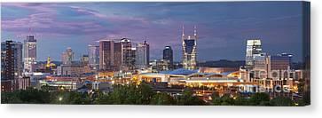 Nashville Skyline Canvas Print by Brian Jannsen