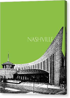 Nashville Skyline Country Music Hall Of Fame - Olive Canvas Print