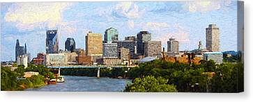 Nashville Skyline Canvas Print by Garland Johnson