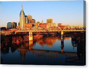Nashville Skyline Canvas Print by James Kirkikis