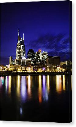 Nashville Tennessee Canvas Print - Nashville Skyline by Lucas Foley