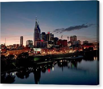 Nashville Skyline Canvas Print by Mountain Dreams
