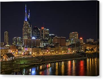 Nashville Canvas Print - Nashville Skyline by Rick Berk