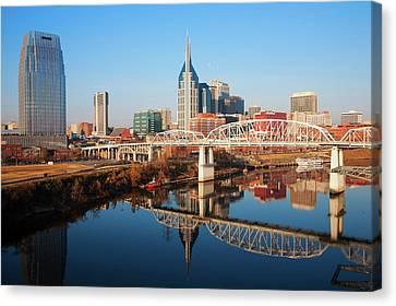 Nashville Skyline, Tennessee Canvas Print