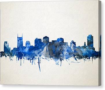 Nashville Skyline Watercolor 11 Canvas Print