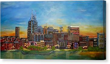 Nashville Tennessee Canvas Print by Annamarie Sidella-Felts