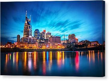 Nashville Canvas Print - Nashville Twilight by Lucas Foley