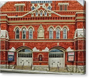 Nashville's Historic Ryman Auditorium Canvas Print by Mountain Dreams