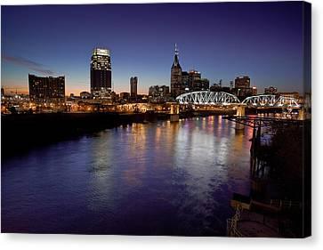 Nashville's River Canvas Print