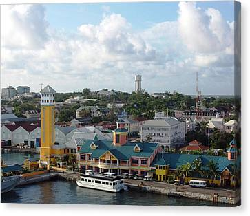 Canvas Print featuring the photograph Nassau In The Bahamas by Teresa Schomig