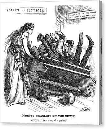Nast Corruption, 1872 Canvas Print by Granger