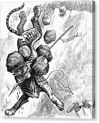 Reform Canvas Print - Nast Tammany Tiger by Granger