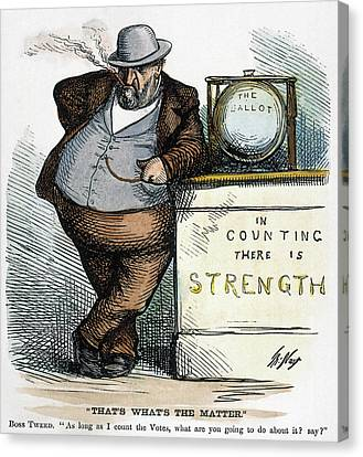 Nast Tweed Corruption Canvas Print by Granger