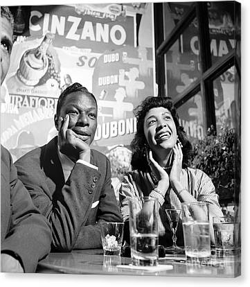 Nat King Cole And His Wife Maria 1954 Canvas Print