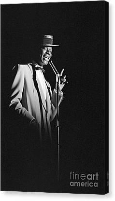 Nat King Cole Performing In 1954 Canvas Print by The Harrington Collection
