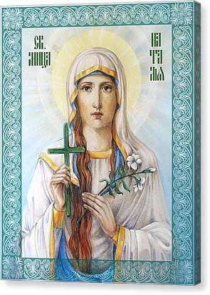 Natalia The Martyr Canvas Print by Natalia Lvova