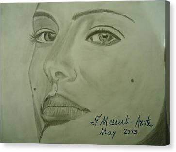 Natalie Canvas Print by Fladelita Messerli-