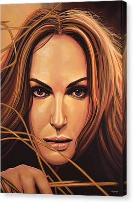 Natalie Portman Canvas Print by Paul Meijering