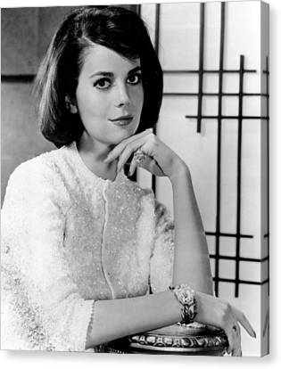 Natasha Canvas Print - Natalie Wood Hand Under Chin by Retro Images Archive