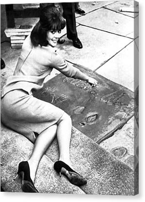 Natasha Canvas Print - Natalie Wood Hollywood Square by Retro Images Archive