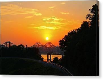 Natchez Sunset Canvas Print