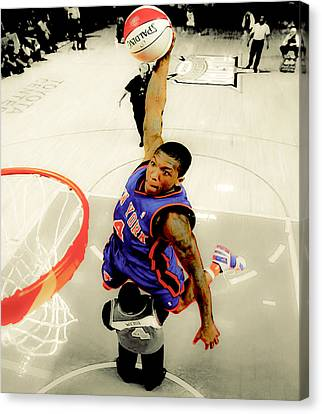 Nate Robinson Canvas Print by Brian Reaves