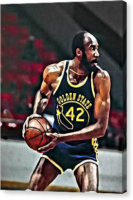 Nate Thurmond Canvas Print by Florian Rodarte