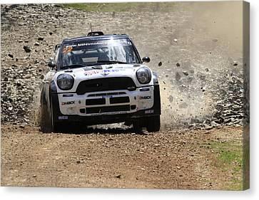 Nathan Quinn Fia World Rally Championship Australia 2013 Canvas Print