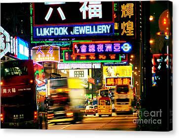 Nathan Road Hong Kong  Canvas Print by Colin Woods