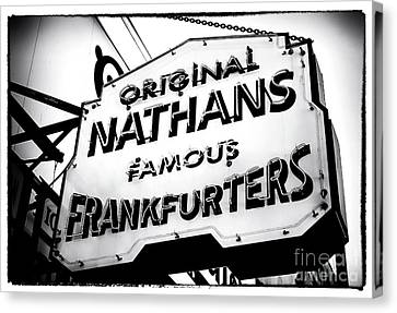 Nathans Famous Frankfurters Canvas Print by John Rizzuto